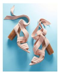 Raye - Multicolor Mia Ankle Wrap High Heel Sandals - Lyst