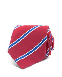 Thomas Pink Red Sudbury Stripe Woven Classic Tie for men