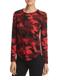 Generation Love - Red Addison Side-snap Camo Tee - Lyst
