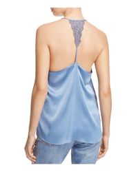 Cami NYC - Blue Emily Lace Racerback Silk Camisole - Lyst