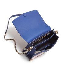 Tory Burch - Blue Robinson Color-block Leather & Suede Pierced Shoulder Bag - Lyst