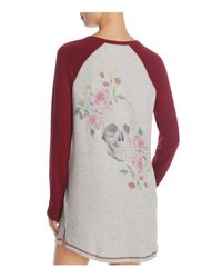 Pj Salvage - Multicolor Skulls & Roses Sleepshirt - Lyst