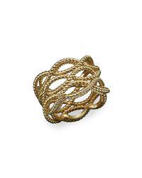 Roberto Coin - Metallic 18k Yellow Gold Triple Row Twisted Ring - Lyst