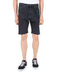The Kooples - Gray Destroy Denim Shorts for Men - Lyst