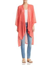 Status By Chenault - Multicolor Cascade Duster Cardigan - Lyst