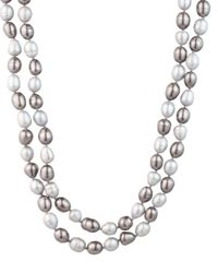 Carolee - Metallic Cultured Freshwater Pearl Rope Necklace - Lyst