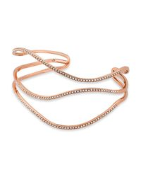 Michael Kors - Metallic Wavy Statement Cuff - Lyst