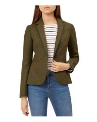 Hobbs - Green Dalby Wool Herringbone Blazer - Lyst