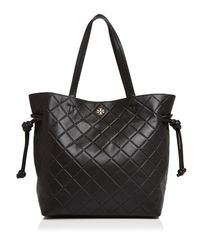 Tory Burch - Black Georgia Slouchy Leather Tote - Lyst