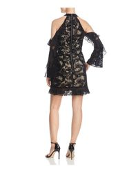 Parker - Black Skyler Cold-shoulder Lace Dress - Lyst