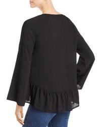Side Stitch - Black Meadow Bell Sleeve Blouse - Lyst