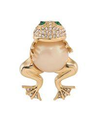 Carolee | Metallic Hugging Frog Pin | Lyst