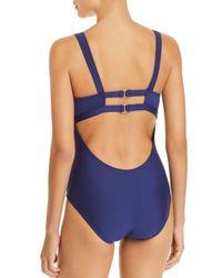 Splendid - Blue Frill Seeker One Piece Swimsuit - Lyst