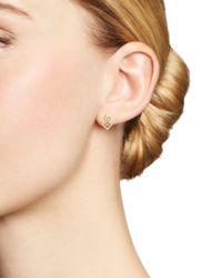 KC Designs - Metallic 14k Yellow Gold Diamond Stacked Square Stud Earrings - Lyst