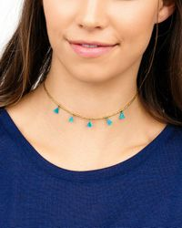 Gorjana - Multicolor Playa Beaded Tassel Choker Necklace - Lyst