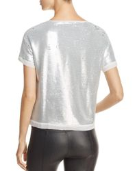 Three Dots - Metallic Sequined Boxy Top - Lyst