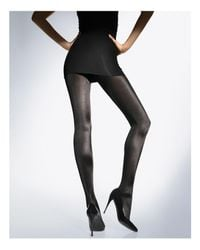 Wolford Black Satin De Luxe Tights
