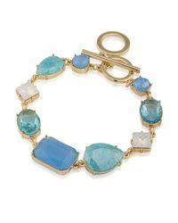 Carolee - Blue Stone Toggle Bracelet - Lyst