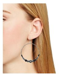 Chan Luu - Metallic Beaded Hoop Earrings - Lyst