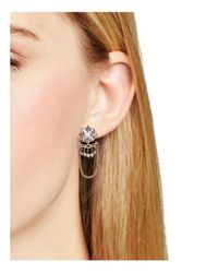 Marchesa - Metallic Drop Earrings - Lyst