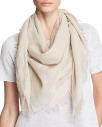 Eileen Fisher - Natural Sparkling Frayed Shawl - Lyst