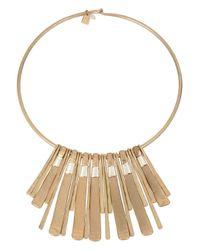 Robert Lee Morris Metallic Two - Tone Wire Wrap Necklace