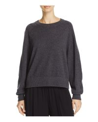 Vince - Gray Boxy Cashmere Sweater - Lyst