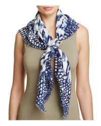 Fraas - Blue Multi Animal Square Scarf - Lyst