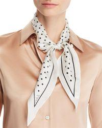 Echo - White Dotty Diamond Silk Scarf - Lyst