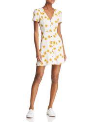 Re:named - White Kate Floral Mini Dress - Lyst