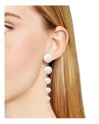 Aqua - Multicolor Renee Pearl Drop Earrings - Lyst
