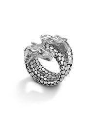 John Hardy   Metallic Naga Sterling Silver Coil Ring   Lyst