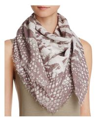 Fraas - Brown Multi Animal Square Scarf - Lyst