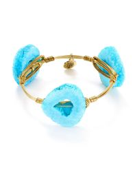 Bourbon and Boweties | Blue Quartz Bangle | Lyst