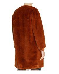 Maje - Brown Gemila Faux-fur Coat - Lyst