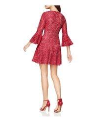 BCBGMAXAZRIA - Red Cutout Lace Dress - Lyst