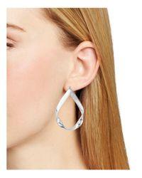 Aqua - Metallic Nicole Twist Earrings - Lyst