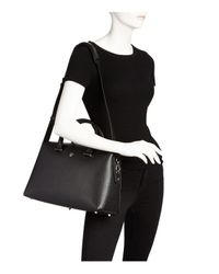 MCM - Black Ella Boston Large Leather Satchel - Lyst