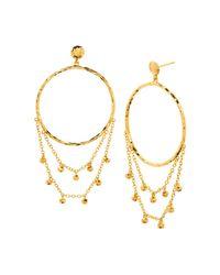 Gorjana - Metallic Sol Drape Hoop Earrings - Lyst