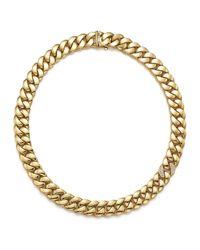 Roberto Coin - Metallic Gourmette Diamond & 18k Yellow Gold Chain Necklace - Lyst