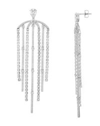 Nadri - Metallic Gloria Statement Fringe Earrings - Lyst