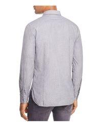 BOSS - Gray Orange Cattitude Long Sleeve Button-down Shirt for Men - Lyst