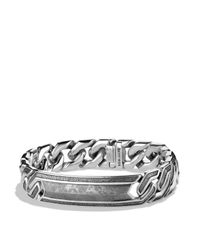 David Yurman - Metallic Meteorite Curb Chain Id Bracelet for Men - Lyst