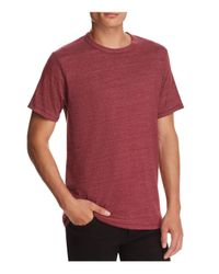 Alternative Apparel - Red Slub Knit Tee for Men - Lyst