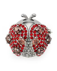 Nadri | Red Siam Ladybug Pin | Lyst
