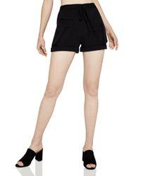 BCBGeneration - Black Drawstring Utility Shorts - Lyst