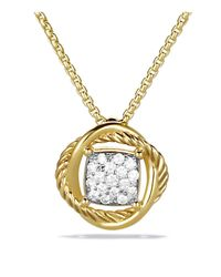 David Yurman - Yellow Infinity Pendant With Diamonds On Chain - Lyst