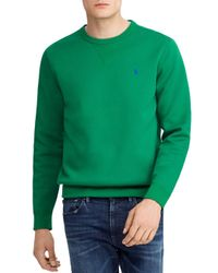 dadfd9368782 Lyst - Polo Ralph Lauren Double-knit Sweatshirt in Green for Men