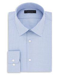 Bloomingdale's - Blue Grid Regular Fit Dress Shirt for Men - Lyst