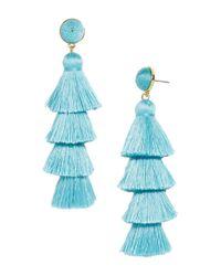 BaubleBar - Blue Gabriela Tiered Tassel Earrings - Lyst